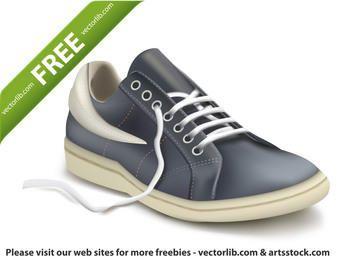 Ilustración de vector fotorrealista de zapato deportivo. Zapatilla de deporte