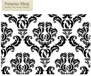 Vector damask repeat pattern