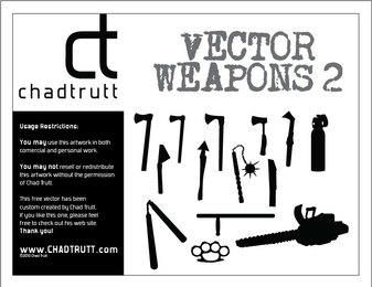 Vector Weapons Silhouettes 2