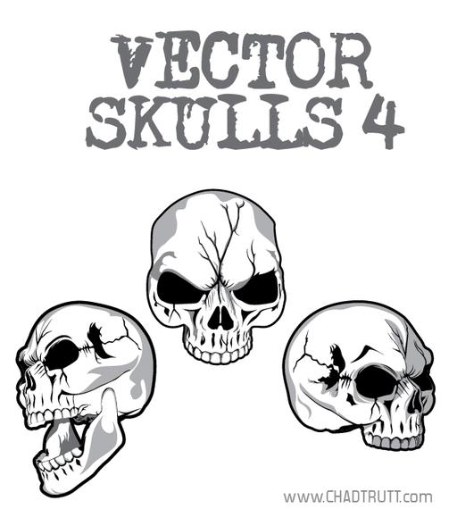 Cracked Skulls Vector