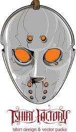 Diseño de máscara de hockey para camiseta.