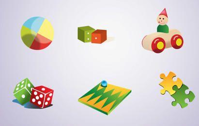 Free Toys Vector Set