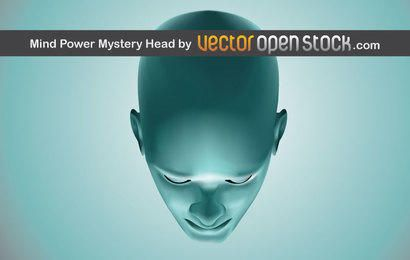 Mind Power Mistery Head Vector Illustration