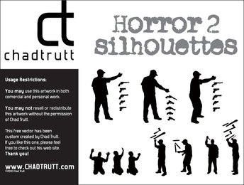 Horror Silhouettes Vector Set