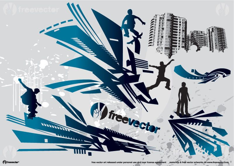 Skate Action Vector