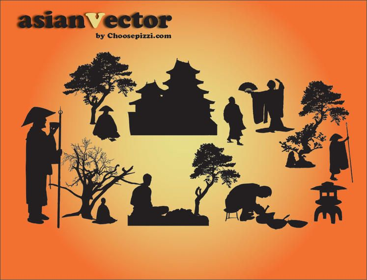 Oriental silhouette Vector