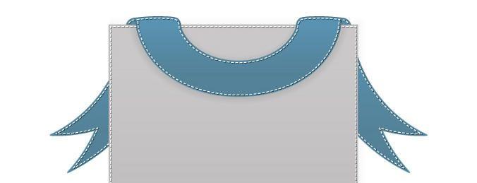 Banner cosido vector