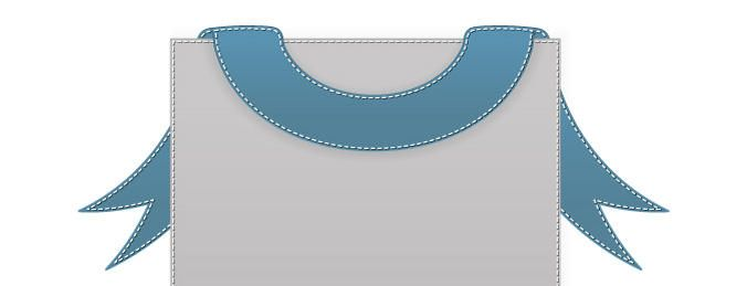 Vector bandeira costurada