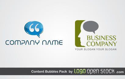 Logo del paquete de burbujas