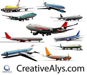Kostenlose Vector realistische Flugzeuge