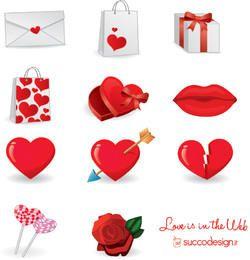 El amor está en la web - Icon Set