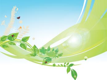 Fondo de primavera de mariquita