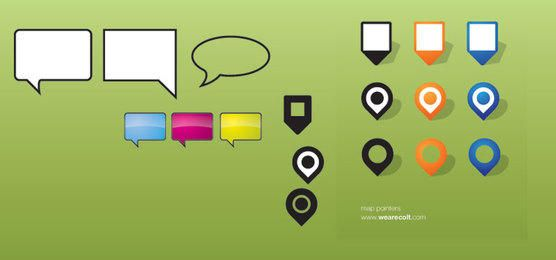 Pointer Icons vector graphic