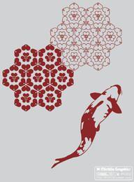 Vector KOI Fish gratis