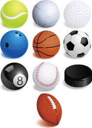 Gráficos de vetor livre de bolas de desporto
