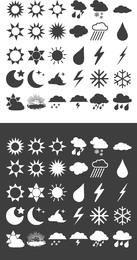 Kostenlose Wettervorhersage Vektor