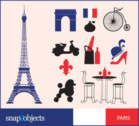 Tudo grátis gráficos vetoriais de Paris