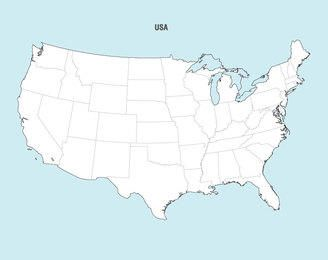 United States Map - Usa map vector