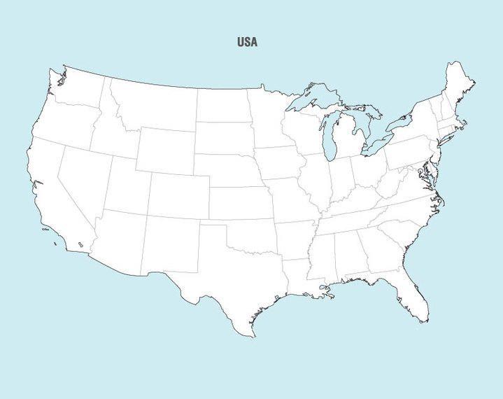 Free Map Vector Of America - Vector download