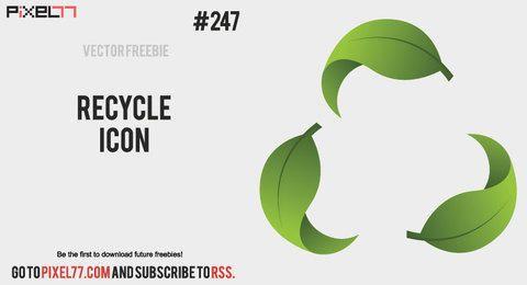 Ícone de vetor livre reciclar