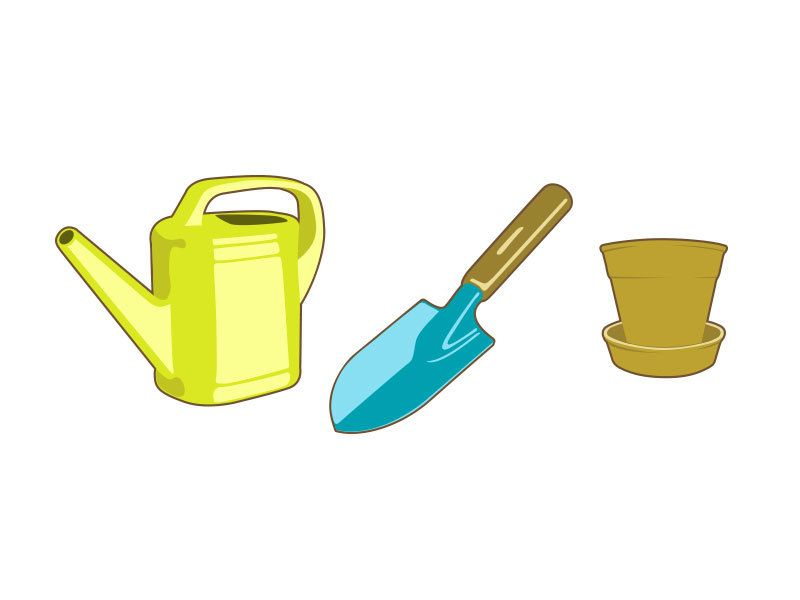 Garden tools vector the image kid has it for Gardening tools toronto