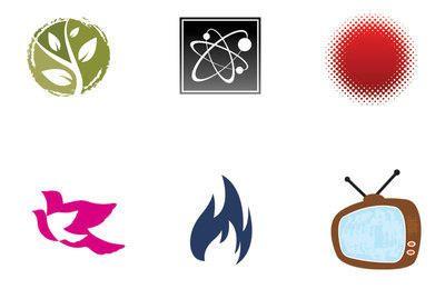 Set von 6 Icons