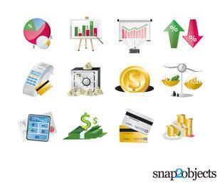 Kostenlose Vektorgrafik von Finanz- und Geschäftselementen
