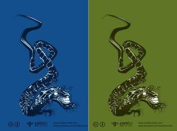 Vetor de dragão japonês grátis