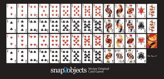 Baralho de vetor livre do jogo de cartas