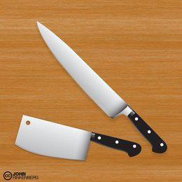 Cuchillo de carnicero vector