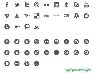 44 Social icon kit Vector