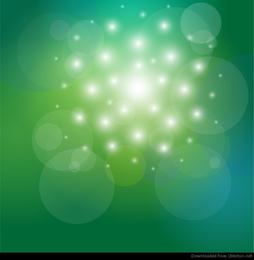 Vector de fondo abstracto verde y bokeh