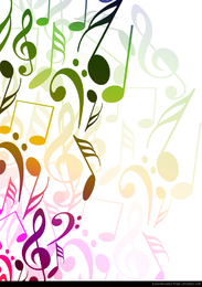 Abstract Background With Tunes Vector Illustration