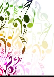 Abstrakter Hintergrund mit musikalischen Anmerkungen