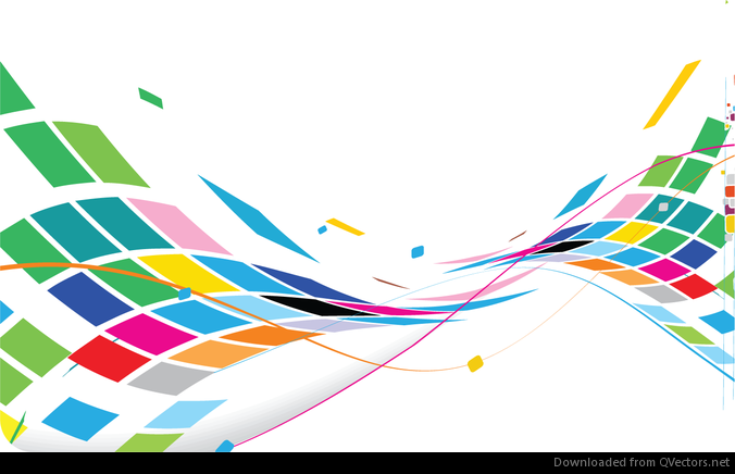 Abstract Wavy Design Colorful Background Vector - Vector ...