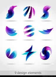 símbolo abstracto gráficos 05 vector