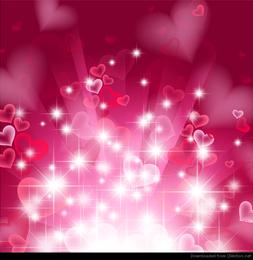 Fondo abstracto del corazón en rosa