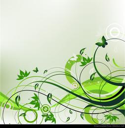 Abstrakter Blumenhintergrund-Vektor für Frühling