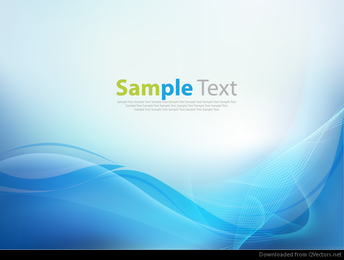Abstract Blue Business Technology Wave Vector Background