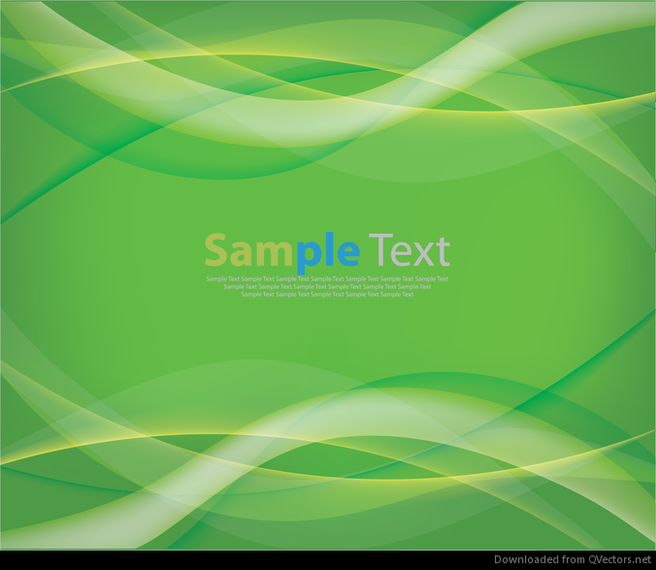 Abstract Green Wave Curves Background Vector Graphic