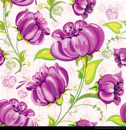 Abstrakter Blumen-nahtloser Hintergrund-Vektor