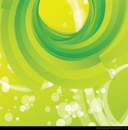 Resumen de vectores de fondo verde remolino de fondo