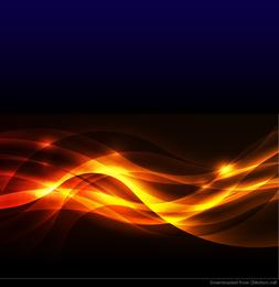 Resumen fuego resplandor fondo Vector Illustration
