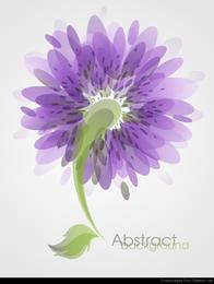 Abstrakte Blumen-Hintergrund-Vektor-Kunst