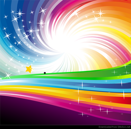 Vector de fondo abstracto del arco iris