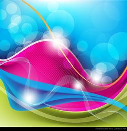 Ondas abstratas livres de fundo Vector