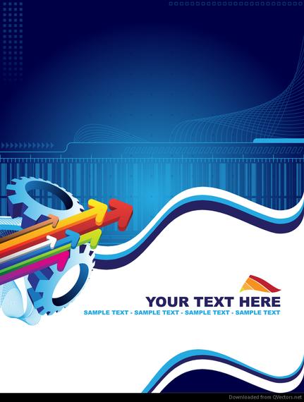 blue arrow abstract dynamic vector