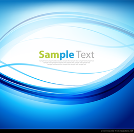Blue Abstract Wave Background Vector Art