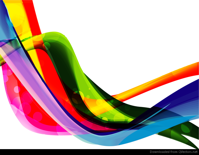 Color Wave Abstract Background Vector Graphic