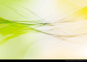 Abstract Yellow Green Wave Design Vector Graphic